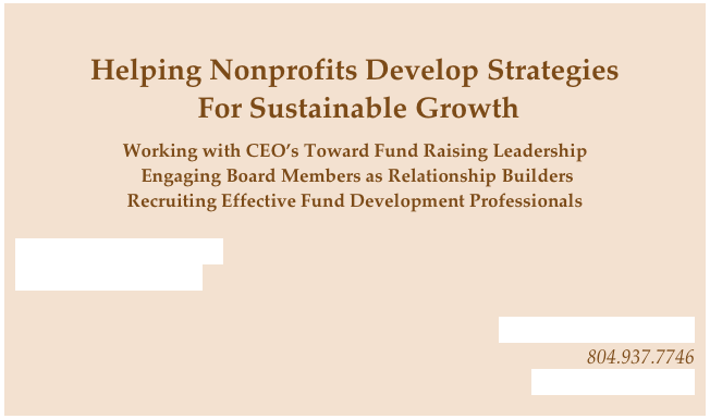 Helping Nonprofits Develop Strategies